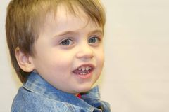 Infant Boy. Young boy with a smile Royalty Free Stock Photos