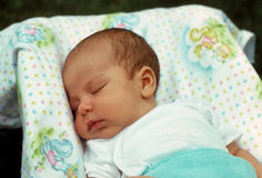 Infant boy sleeping Royalty Free Stock Image