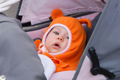 Infant in carriage Stock Photo