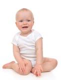 Infant child baby girl toddler sad crying yelling Stock Image