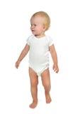Infant child baby kid toddler make first steps Stock Images