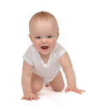 Infant child baby toddler crawling Stock Photos