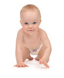 Infant child baby toddler sitting or crawling royalty free stock photography