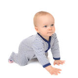 Infant child baby toddler sitting or crawling Royalty Free Stock Images