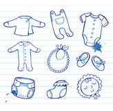 Infant clothes Icon set Royalty Free Stock Photo