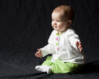 Infant color profile shot Royalty Free Stock Images