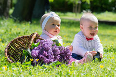 Infant couple Royalty Free Stock Image