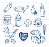 Infant  doodle Icon set Royalty Free Stock Image