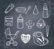Infant  doodle Icon set Royalty Free Stock Photography