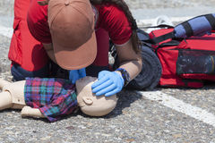 Infant dummy first aid Royalty Free Stock Photo