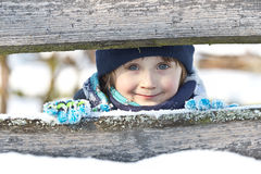 Infant enjoys the winter Royalty Free Stock Photos