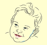 Infant face linear Royalty Free Stock Photo