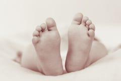 Infant feet stock image