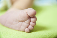 Infant foot Royalty Free Stock Photo