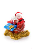 Infant with gifts in box #3 Royalty Free Stock Photos