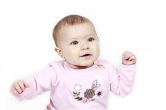 Infant girl Stock Photo