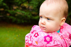 Infant Girl Portrait Stock Photography