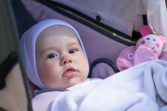 Infant girl in walk Stock Photos