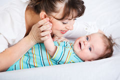 Infant and his mother Royalty Free Stock Images