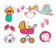 Infant Icon set Royalty Free Stock Images