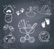 Infant Icon set Stock Photography
