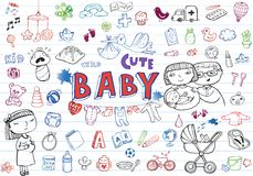 Infant Icon set Stock Image