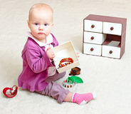 Infant with Jewellery Stock Images