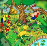 Infant landscape stock illustration