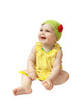 Infant laughs Royalty Free Stock Photos