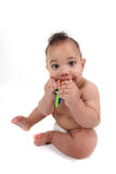 Infant little boy crawling towards the viewer Royalty Free Stock Photo