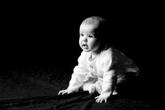 Infant looking to future Royalty Free Stock Images