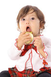 Infant with ornament Stock Photo