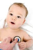 Infant by the pediatrcian Stock Photography