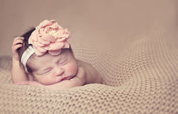 Infant posed sleeping Stock Photography