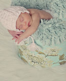 Infant posed sleeping Stock Images