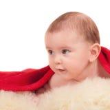 happy little boy on blanket Stock Image