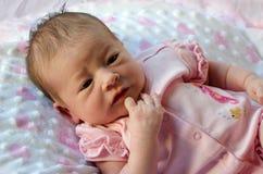Infant reflection Stock Photos
