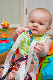 Infant and Ribbons Stock Photos
