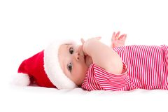 Infant santa Royalty Free Stock Images