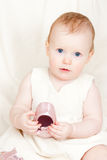 Infant with shoe Royalty Free Stock Images