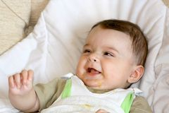 Infant smile. Stock Photography