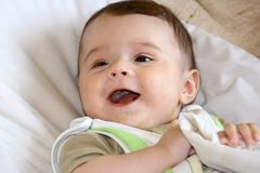 Infant smile. Royalty Free Stock Photography
