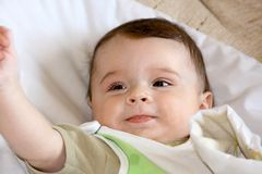 Infant smile. Royalty Free Stock Image