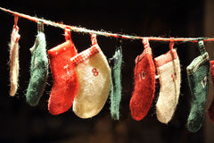 Infant socks for Christmas gifts Stock Photo