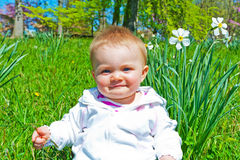 Infant Spring Portrait Royalty Free Stock Images