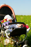 Infant in Stroller Stock Photography
