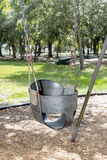 Infant, Toddler Swing Seat. High back, bucket swing seat for infants / toddlers Royalty Free Stock Photo