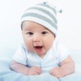 infant Verticale d'un beau petit enfant images libres de droits