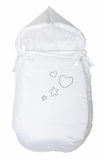 Infant warm sleeping bag isolated over white Stock Photography