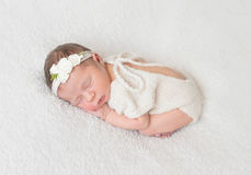 Free Infant Wearing White Suit With Cut On Back Royalty Free Stock Photos - 93327438